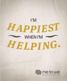 I'm happiest when I'm helping. #volunteer