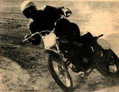 Preston Petty winning the 250 Expert class aboard the new Suzuki TM250, TT Scrambles at Perris, CA. January 21, 1968