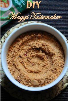 Maggi Tastemaker Recipe - How to Make Maggi Seasoning Powder - Yummy Tummy Homemade Spices, Homemade Seasonings, Homemade Butter, Masala Powder Recipe, Masala Recipe, Maggi Recipes, Masala Spice, Garam Masala, Curry