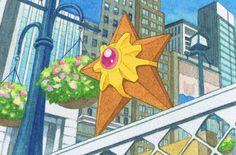 Staryu Water Type Pokemon, My Pokemon, Pokemon Cards, Pikachu, Pokemon Pictures, Star Shape, Anime, Shapes, Hearts