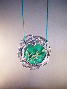 frosty branches pendant electroformed jewelry by AurumgirlStudio