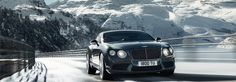 Bentley Continental GT V8 in Thunder, Swiss Alps