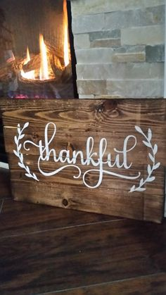 Decorate your home this fall with a gorgeous natural espresso stained wood sign. Wood Pallet Art, Pallet Painting, Pallet Signs, Wood Pallets, Wood Art, Wood Signs, Rock Painting, Wooden Projects, Diy Pallet Projects