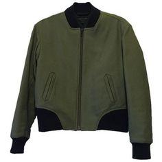 Pre-owned Rag & Bone Olive Leather Trim Challenge Jacket