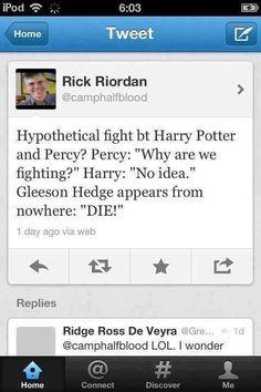Percy Jackson and Harry Potter  Rick Riordan