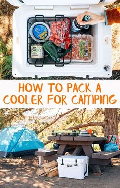 Our best tips for how to pack a cooler for camping & how to make ice last longer in a cooler.