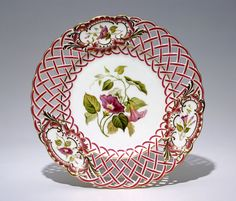 Herbert Minton & Co. English, est. 1793 Dessert plate, c. 1840 bone china 3.1 x 24 cm Collection of the Winnipeg Art Gallery; Gift of Kathleen and A. Lorne Campbell G-98-31