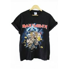 Iron Maiden Best of Beast T Shirt (L) ($4.94) ❤ liked on Polyvore featuring tops, t-shirts, shirts, t shirt, shirt top and tee-shirt