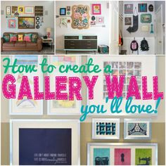 DIY Home Decor   Looking for gallery wall inspiration? Check out these tips and tricks that helped me overcome my fear of creating gallery walls!   #Ad