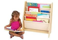 Getting children excited about reading isn't always a simple task, but our new Sling Bookshelf makes story time a lot more fun. This shelf is the perfect gift for the young readers in your life. Featu