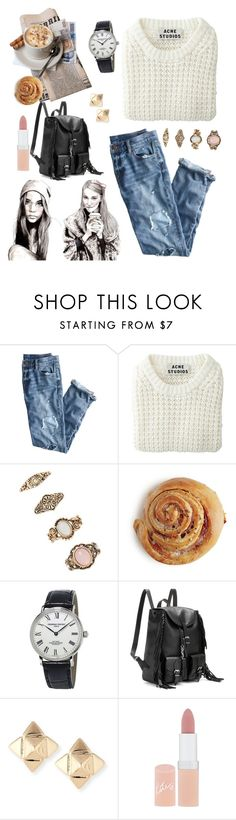 """Untitled #236"" by helene-saeth-fiska ❤ liked on Polyvore featuring J.Crew, Acne Studios, Forever 21, Frédérique Constant, Yves Saint Laurent, Valentino and Rimmel"