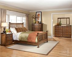 This bedroom set's timeless appeal and classic tailoring make the Oak Park collection an ideal selection for a variety of decorating sensibilities.   #HomeDecor #Decorating #InteriorDesign