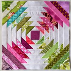 Tutoriales de Patchwork: PIÑA LOG CABIN