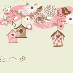 Ilustración con pájaros