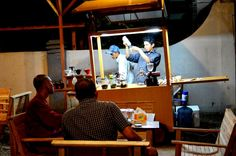 Cart coffee service in Banda Aceh yet stationed in a certain locality ..