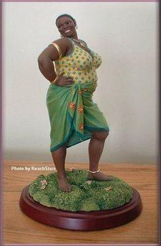 Thomas blackshear ebony visions big sexy figurine first edition African American Figurines, African American Artist, Black Figurines, Fairy Figurines, African Women, African Art, Fat Black Girls, Thomas Blackshear, Plus Size Art