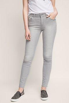 Esprit / Grijze stretchjeans in 5-pocket-stijl