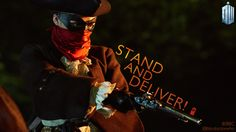 The first words of the ep are - 'Stand and deliver!' - the classic highwayman demand to hand over your valuables!