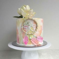 Pastel mini dream catcher cake 13 Birthday Cake, Wild One Birthday Party, Girl 2nd Birthday, Birthday Parties, Cupcakes, Cake Cookies, Cupcake Cakes, Beautiful Cakes, Amazing Cakes