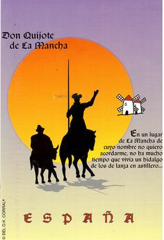 """Postcrossing ES-171253 - """"Don Quijote de La Mancha"""" -a popular story from Spain. Sent by a Postcrosser in that country."""