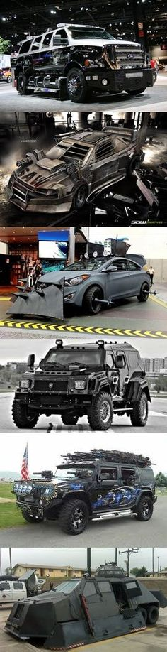 Zombie Apocalypse Vehicles, not bad for some ideas, but more weight equals more fuel consumed Zombie Vehicle, Bug Out Vehicle, Cool Trucks, Big Trucks, Cool Cars, Zombie Apocalypse Survival, Zombies Survival, Automobile, Pt Cruiser