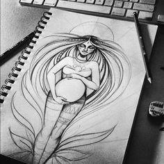 Pacha Mama Sketch