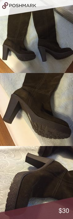 Envy Katima brown sued boots Suede high heel boots Envy Shoes Heeled Boots