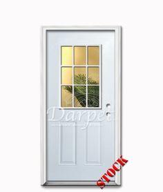 9 Lite Half Clear Glass Steel Exterior Door 6-8 | Darpet Interior ...