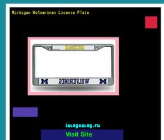 Michigan wolverines license plate 142155 - The Best Image Search