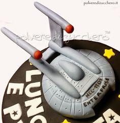 Torta Star Trek navicella enterprise, Star trek cake Enterprise