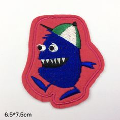 funny patch cute punk patch  Monster freak git patch embroidered patch Full embroidery iron on patch sew on patch A178