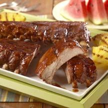 Hoot 'n Holler Baby Back Pork Ribs - Celebrate the Fourth of July with a hoot and a holler! Your guests will be sure to give a holler for these ribs from Beverly Miller of Amarillo, Texas that won first place at the Amarillo Tri-State Fair.