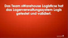 Das Team »Warehouse Logistics« hat das Lagerverwaltungssystem Logis getestet und validiert. Warehouse Logistics hat neben dem breiten Funktionsumfang und moderner Technologie, die einzigartigen Vorteile von Logis gegenüber anderen Lagerverwaltungssystemen hervorgehoben. Innovation, Software, Success, Technology, Public Health, Benefits Of, Dortmund
