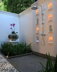 You will be surprised at what can be done with outdoor shower ideas. Do not forget to come back for more excellent ideas at backyardmastery.com #outdoorideaspool #outdoorshowerideas