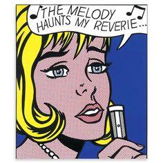 LICHTENSTEIN The Melody Haunts My Reverie from 11 Pop Artists, Volume II de Pop Art