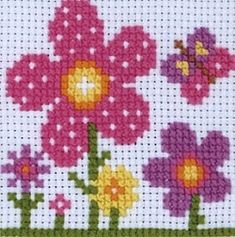 Items similar to SIMPLE WHITE FLOWER CROSS STITCH PATTERN
