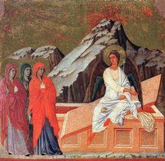 The Three Marys at the Tomb, 1308-1311 - Duccio