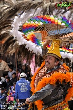 The dance of the Safe Suri at the Carnival of Oruro, Bolivia. The suri is the ceremonial dance of the hunt of the ostrich, which is carried out while playing an instrument built of a native timber known as Safe. The main clothing is the hat that is particularly wide and equipped with a showy decoration feather, Suri. The melodies of this dance are typically Andean.