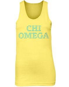 Chi Omega Nest Tank by Adam Block Design   Custom Greek Apparel & Sorority Clothes   www.adamblockdesign.com
