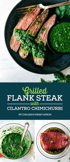 Grilled Flank Steak with Cilantro Chimichurri | 7 Tasty Summer Dinners To Try This Week