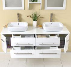 Doppel Aufsatzwaschbecken Mit Unterschrank