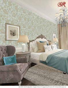 Современная идея дизайна бирюзовой спальни  http://www.ok-interiordesign.ru/ph18_bedroom_interior_design.php