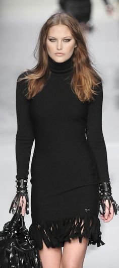 Blumarine....black dress with a twist