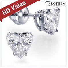 #Heart Shape #DiamondStudEarrings The Perfect #BirthdayGift. http://ebay.to/1mufMCE