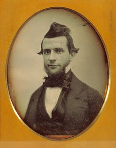 [Portrait of a young man with chin beard and duck-tail coiffure]; Attributed to Southworth & Hawes (American, active 1844 - 1862); about 1850; Daguerreotype; 84.XT.438.2; J. Paul Getty Museum, Los Angeles, California