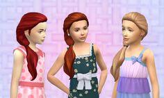 Mystufforigin's Sideways Hair for Girls - Long hairstyles ~ Sims 4 Hairs