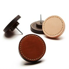Leather Stacked Handle | Contrast Stitch | British Tan | NEW – MadeMeasure