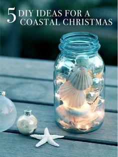 DIY Luminary Jar for a Coastal Christmas