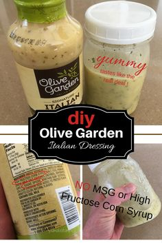 Olive Garden Salad Dressing Recipe - MSG and High Fructose Corn Syrup FREE - You Make it Simple - Olive Garden Italian Dressing Salada Do Olive Garden, Olive Garden Salad, Olive Garden Recipes, Olive Salad, Olive Recipes, Olive Garden Italian Dressing, Italian Dressing Recipes, Salad Dressing Recipes, Copycat Olive Garden Dressing Recipe