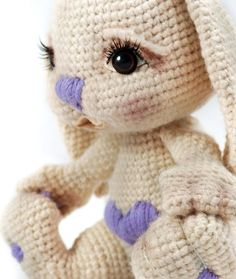 "Crochet pattern "" Bunny Letta""  Cute! Sooo cute!"